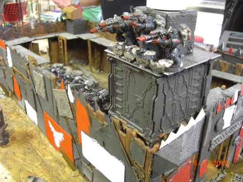 Imperial Fists hold and Ork fort.